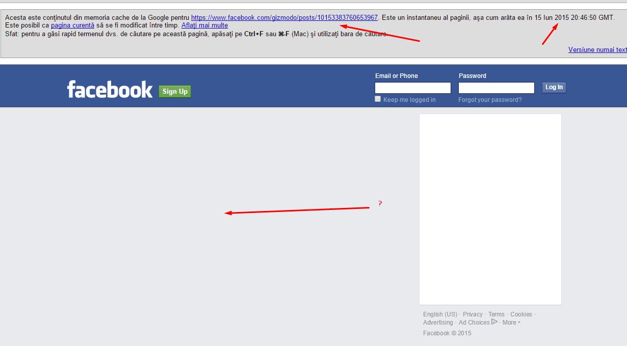 google noindex facebook