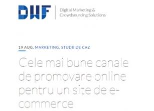 Canale de promovare online pentru magazine online - raspuns
